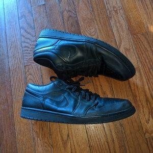 Nike Air Jordan Retro 1 OG Low Black Size 15